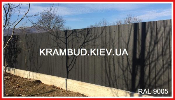 9005 Черный профнастил Ral 9005 Чорний - Крамбуд