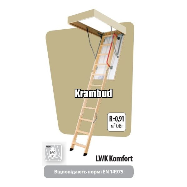 FAKRO LWK Komfort - чердачная лестница