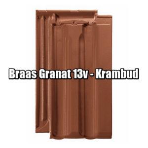 Браас Гранат 13 В - натуральная керамическая черепица