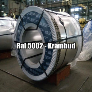 цена Рулонная сталь 5002 Ral - плоский гладкий лист с полимерным покрытием киев