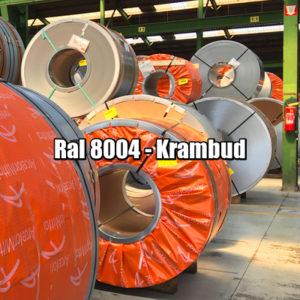 купить Рулонная сталь 8004 Ral - плоский гладкий лист с полимерным покрытием цена