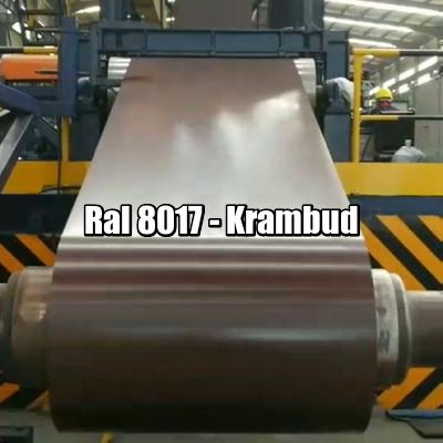 цена Рулонная сталь 8017 Ral - плоский гладкий лист с полимерным покрытием