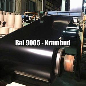 цена Рулонная сталь 9005 Ral - плоский гладкий лист с полимерным покрытием