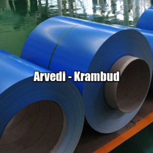 цена Рулонная сталь Arvedi Италия 0,45 мм — гладкий лист с полимерным покрытием