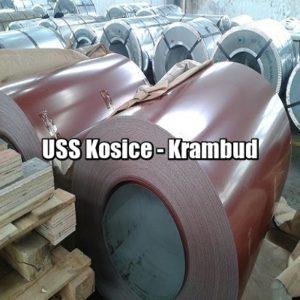 цена Рулонная сталь USS Kosice Словакия 0,45 мм — гладкий лист с полимерным покрытием киев