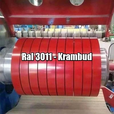 цена Штрипс RAL 3011 — штрипсованный плоский лист с полимерным покрытием