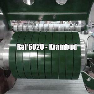 цена Штрипс RAL 6020 — штрипсованный плоский лист с полимерным покрытием купить