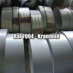 цена Штрипс RAL 7004 — штрипсованный плоский лист с полимерным покрытием купить