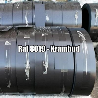 цена Штрипс RAL 8019 — штрипсованный плоский лист с полимерным покрытием