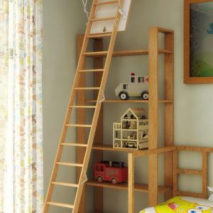 Чердачная лестница BUKWOOD Long Compact - 130-90-340 - Крамбуд