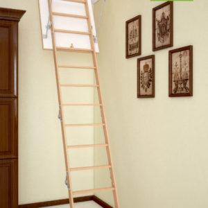 Чердачная лестница BUKWOOD Long Eco - 130-90-340 - Крамбуд