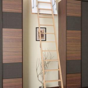 Чердачная лестница BUKWOOD Long Luxe - 120-60-340 - Крамбуд