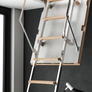 Чердачная лестница BUKWOOD Metal Mini Luxe - 80-80-265 - Крамбуд