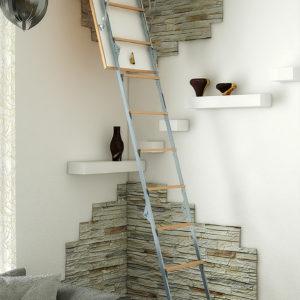 Чердачная лестница BUKWOOD Metal Standard Compact - 110-90-280 - Крамбуд