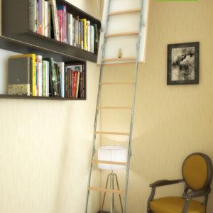 Чердачная лестница BUKWOOD Metal Standard Eco - 120-60-280 - Крамбуд