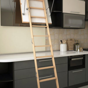 Чердачная лестница BUKWOOD Mini Luxe - 90-60-280 - Крамбуд