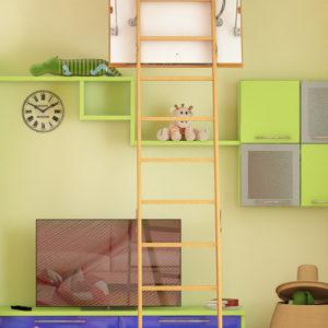 Чердачная лестница BUKWOOD Standard Luxe - 120-60-280 - Крамбуд